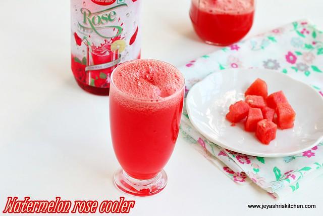 watermelon rose cooler