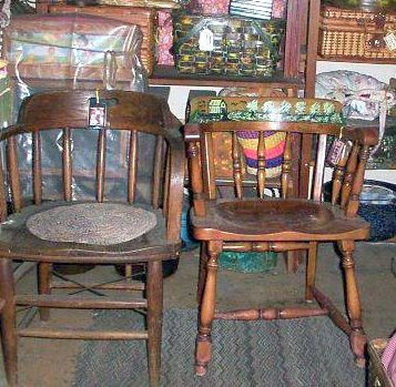 Old Railroad Caboose chair  on the right side the left