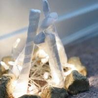 diy | flameless fire pit + fake rocks