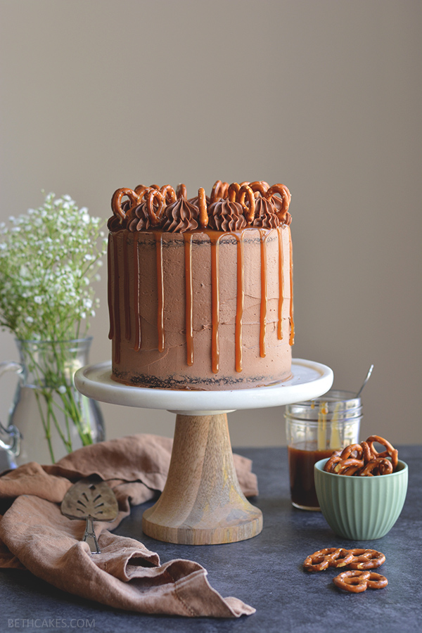 Sweet & Salty Chocolate Stout Cake - bethcakes.com
