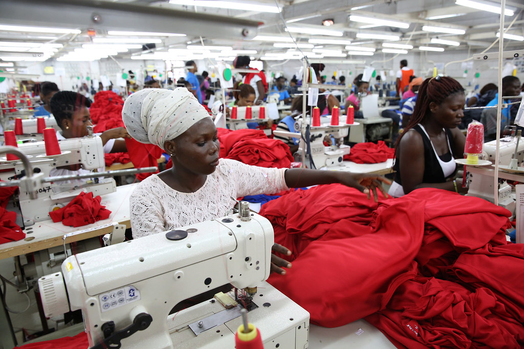 Dignity Factory Workers Producing Shirts For Overseas Clie