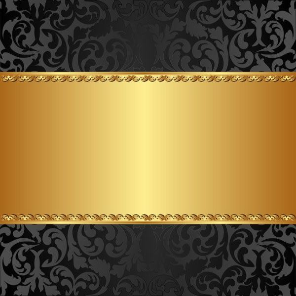 Golden Background With Abstract Floral