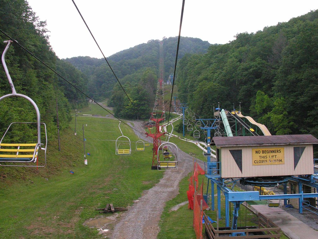 Our First Activity at Ober Gatlinburg  Take a Chair Lift