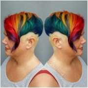rainbow shaved undercut