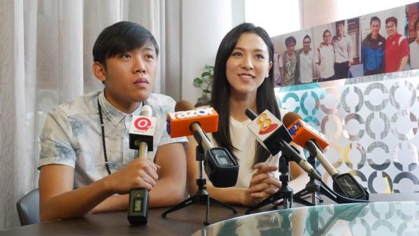 Wang Weiliang and co-star Venus Wong.