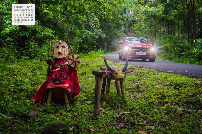 Red Mercedes and Jungle Goddess Rainforest