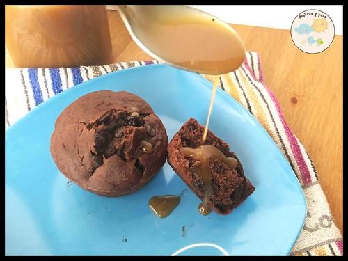 Receta de magdalenas de chocolate, plátano y yogur griego