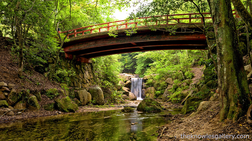 Fall Photo Wallpaper Waterfall And Bridge In Japan Forest This Little Water