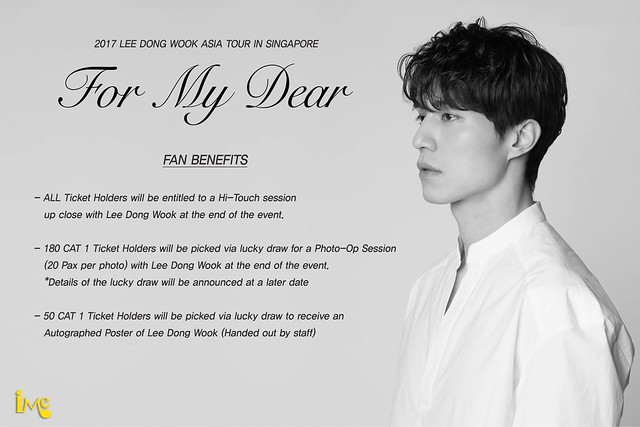 Lee Dong Wook 'For My Dear' Asia Tour in Singapore Fan Perks