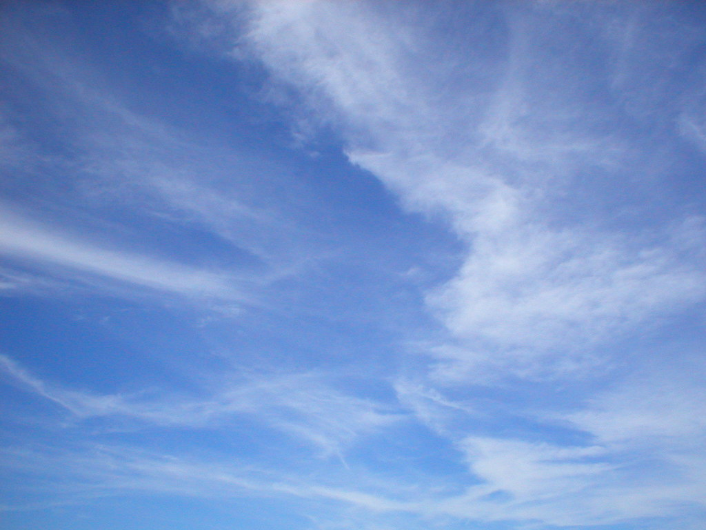 Blue Sky Wispy Clouds  Wendy  Flickr