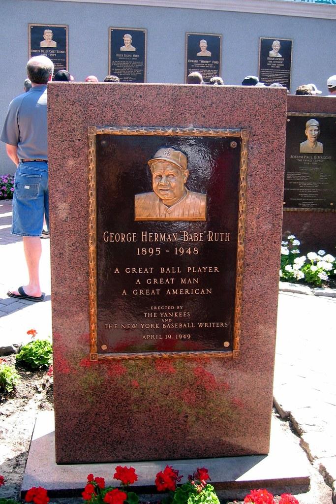 Yankee Stadium  Monument Park  Babe Ruth Monument  Flickr