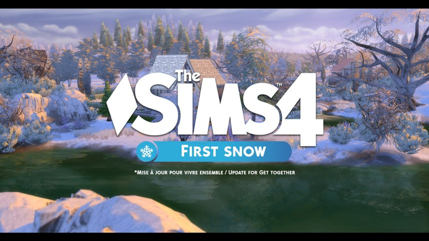 Les Sims 4 First snow