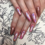 tapered acrylics with red hot crimson