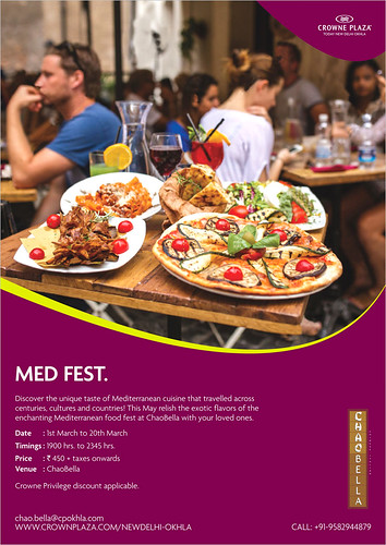 mediterranean food festival crowne plaza today okhla chaobella hungrynomads