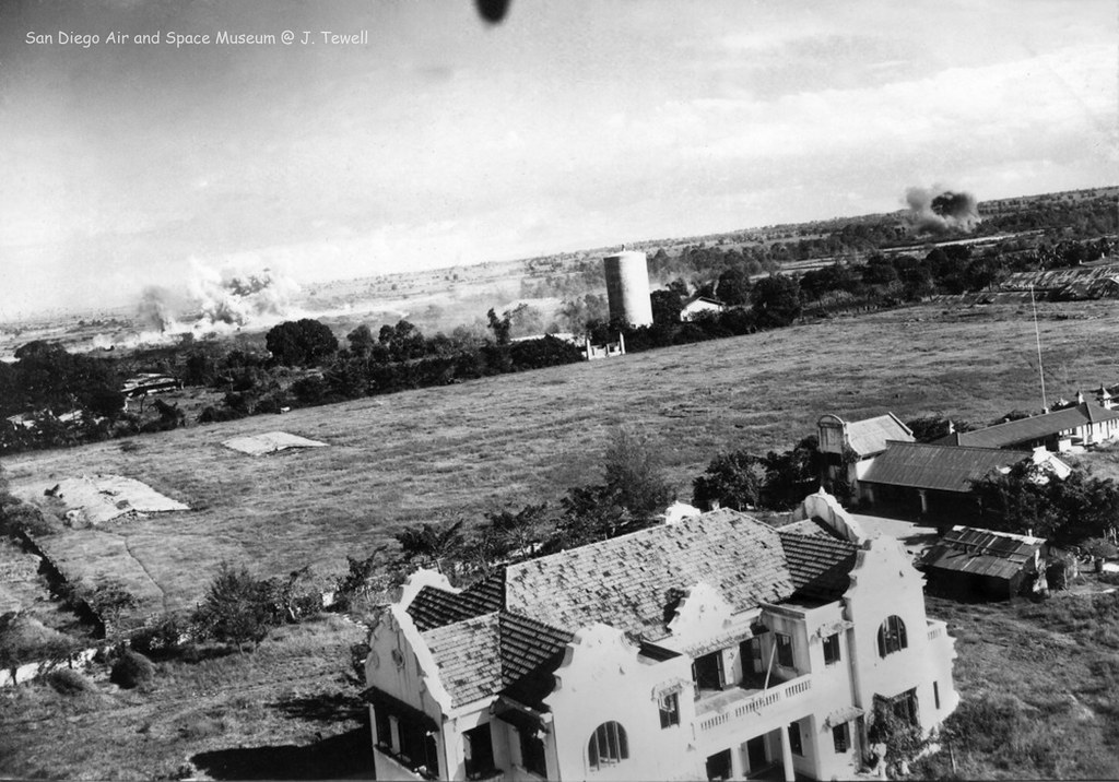 Nichols Field being bombed by the Americans Manila Phili