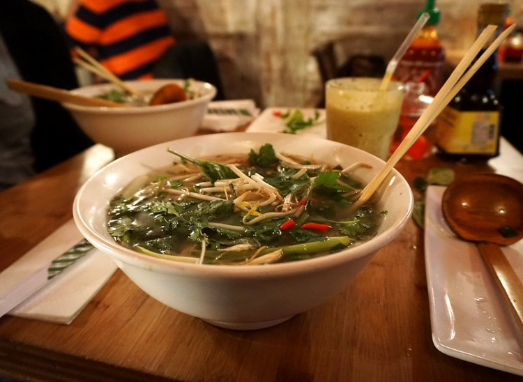Vietnamese Pho soup from Pho | Gluten free Shoreditch guide | Gluten free London | Brick Lane | Old Street | Spitalfields | Hoxton | East London