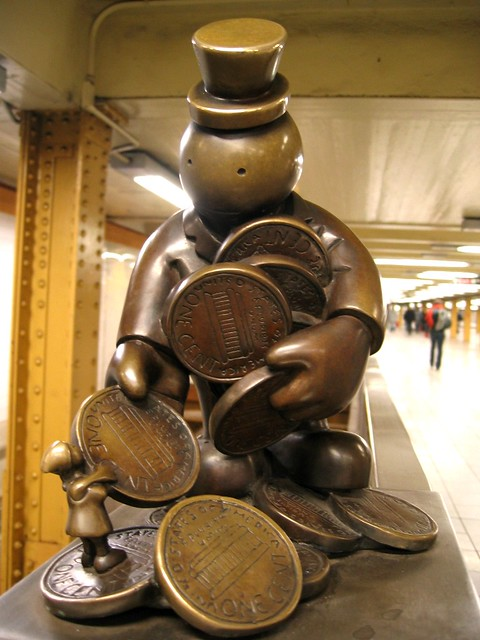 NYC Subway sculpture  One of the sculptures by Tom Otternes  Flickr