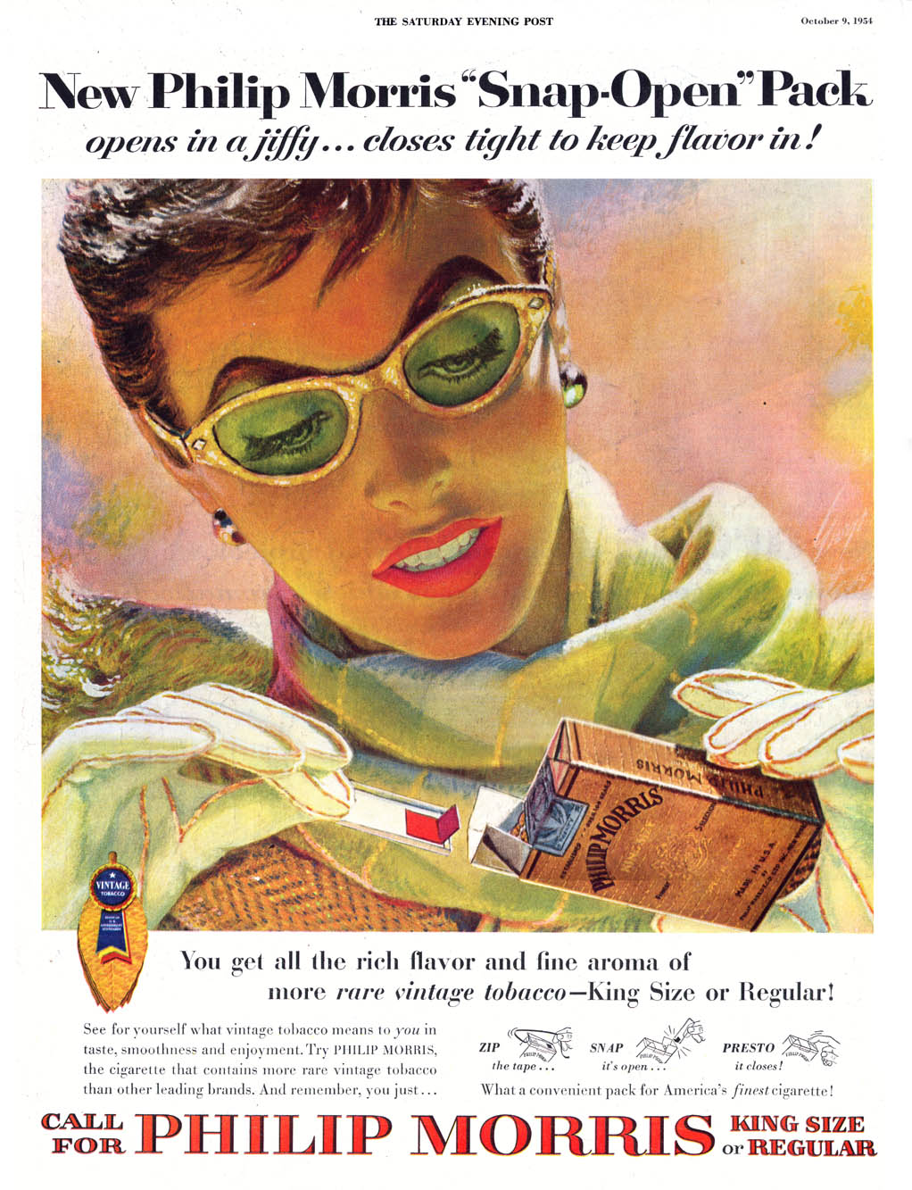 Phillip Morris - illustrated by Edwin Georgi - published in The Saturday Evening Post - October 9, 1954