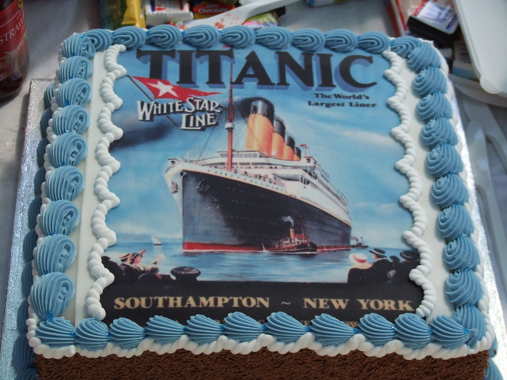 Thats a cake with Titanic on it as opposed to a big tita
