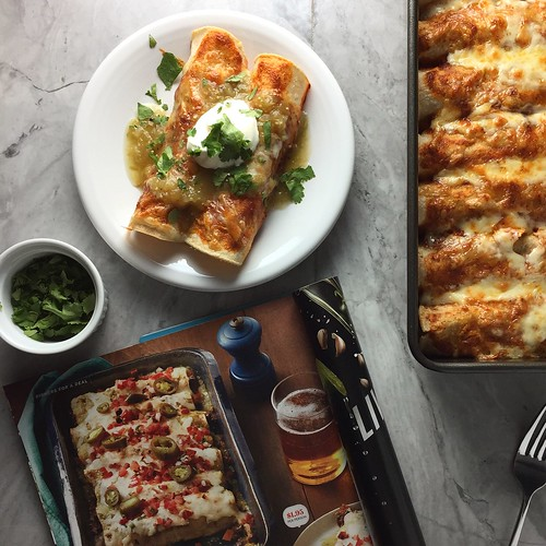SP and black bean enchiladas via Rachael Ray