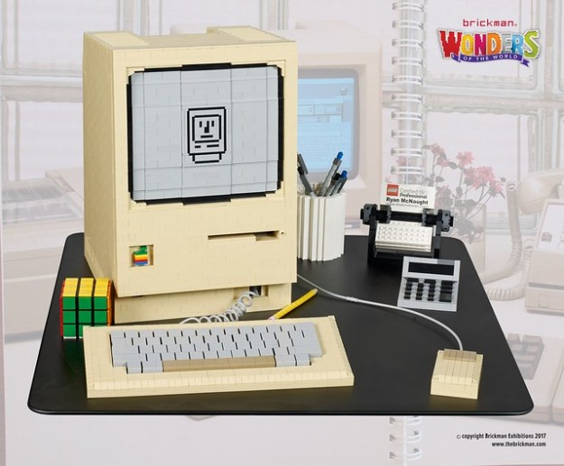 LEGO Macintosh and 80s workdesk