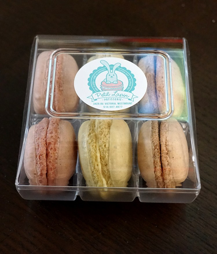 Gluten free macarons from Petit Lapin Bakery - gluten free bakery in Montreal, Quebec, Canada
