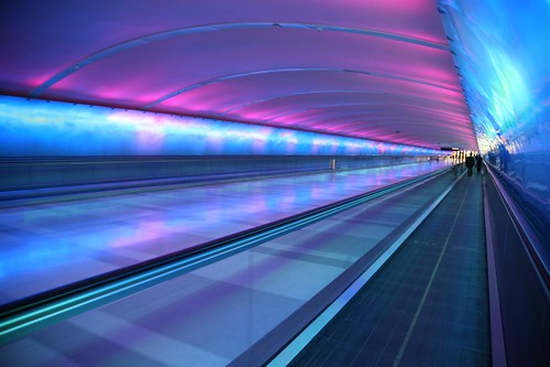 Psychedelic Tunnel At DTW Detroit Metro Airports