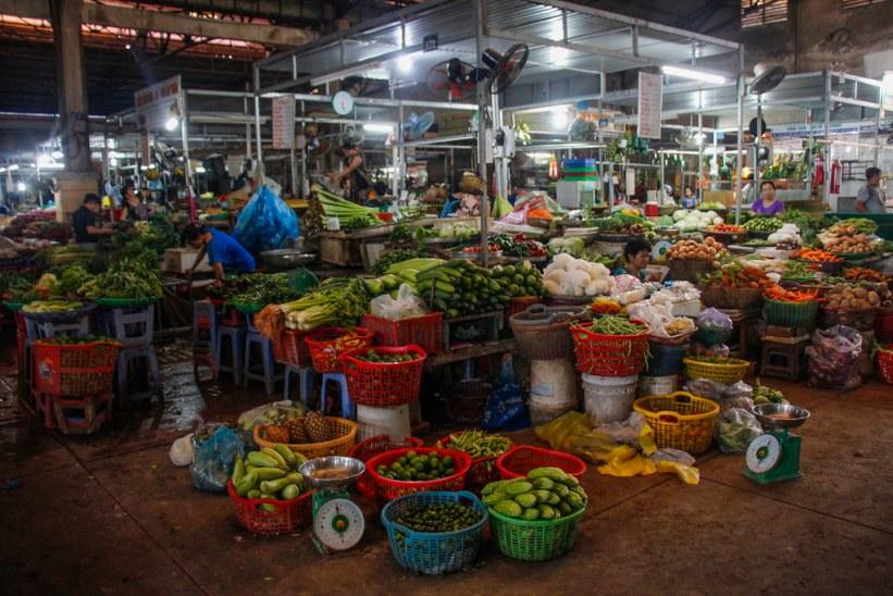 Lokalt marked i Can Tho