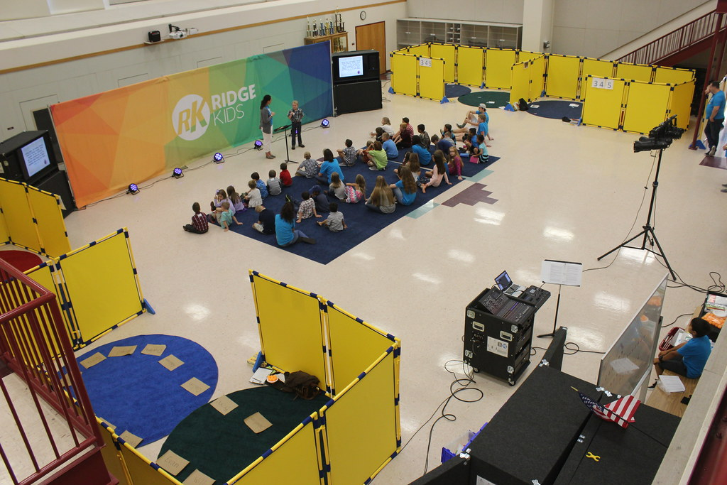 Kids Ministry with Break Out Group Areas  Portable