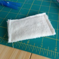 Pillow lined with batting | cut a rectangle of cotton and ...