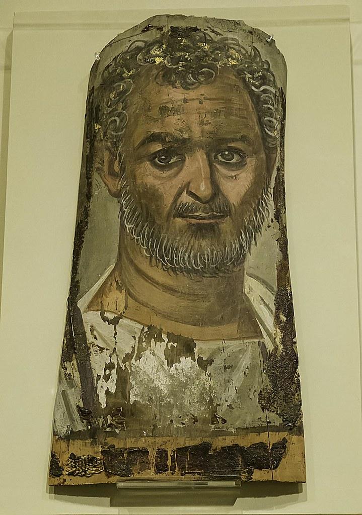 Funerary Portrait Tempera on wood Egypt Roman Period 1st