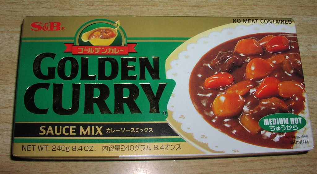 Box of curry mix  Yes we actually buy Japanese curry