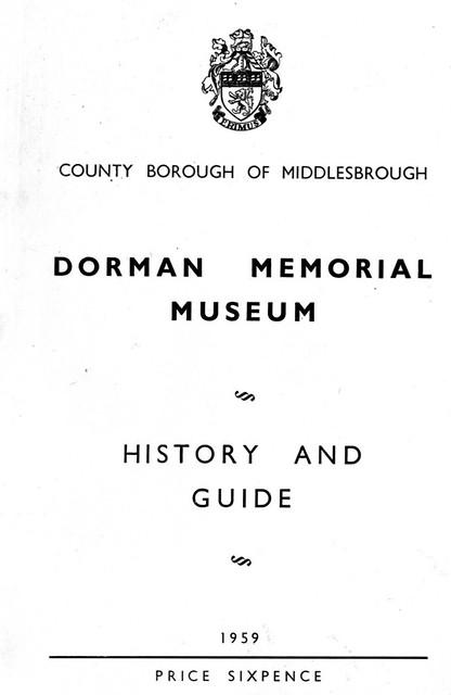 Dorman Memorial Museum - Cover