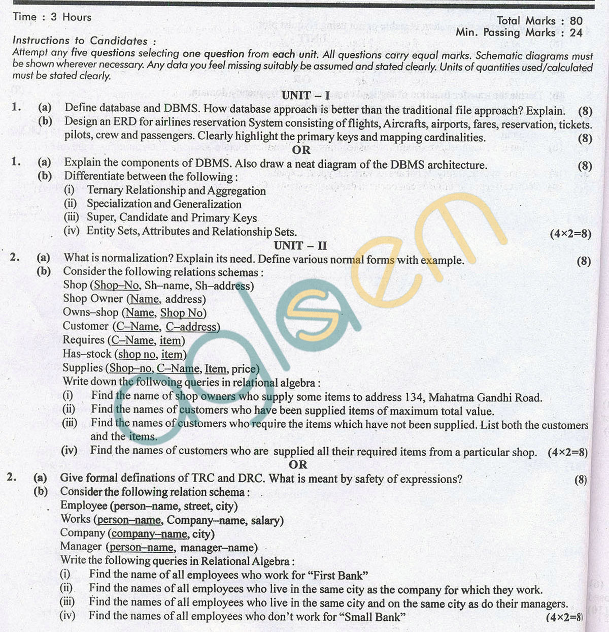 RTU: Question Papers 2014 – 5 Semester - EE - 5E5044