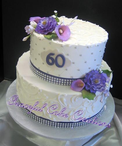 Elegant 60th Birthday Cake Grace Tari Flickr