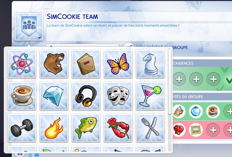 Logo groupes Les Sims 4 vivre ensemble