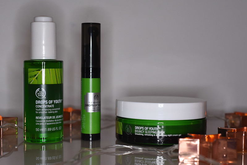 Drops of youth youth eye concentrate, bouncy sleeping mask and concentrate