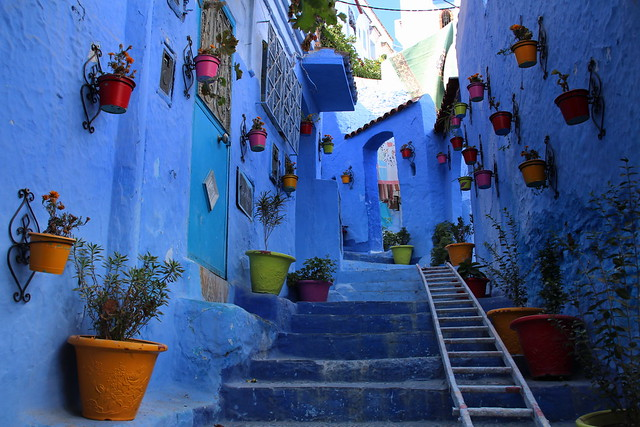 The blue village of Chefchaoen, Morocco