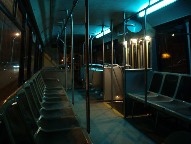 Empty Bus At Night This Was Taken Late One Night On The