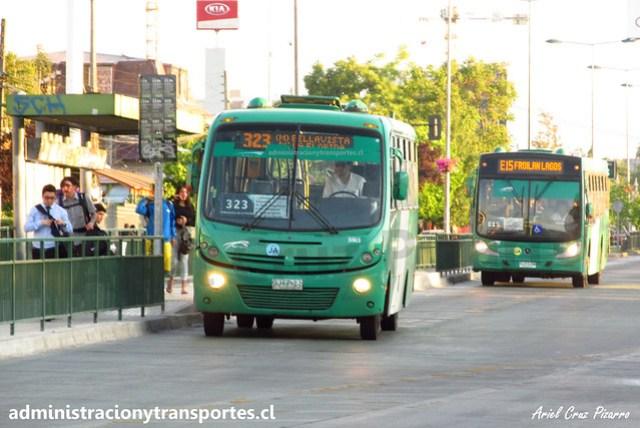 Transantiago 323   Buses Vule   Busscar Micruss - Mercedes Benz / BJFP21