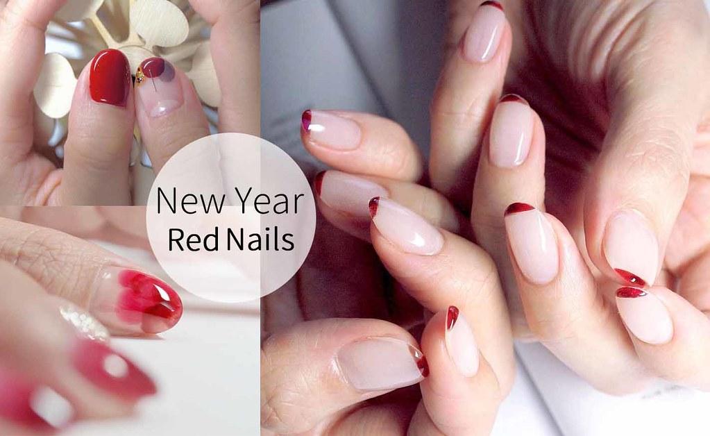 ♥ 過年的紅不是紅!紅色指甲的小清新 1