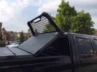 A Heavy Duty Tonneau Cover And Custom Headache Rack On A F ...