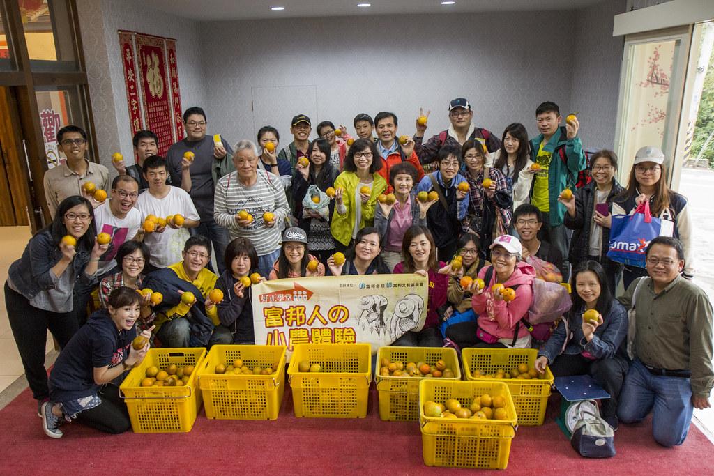 大桔大綠 富邦志工協助友善農耕酸甜採收 1434斤 - 臺灣環境資訊協會