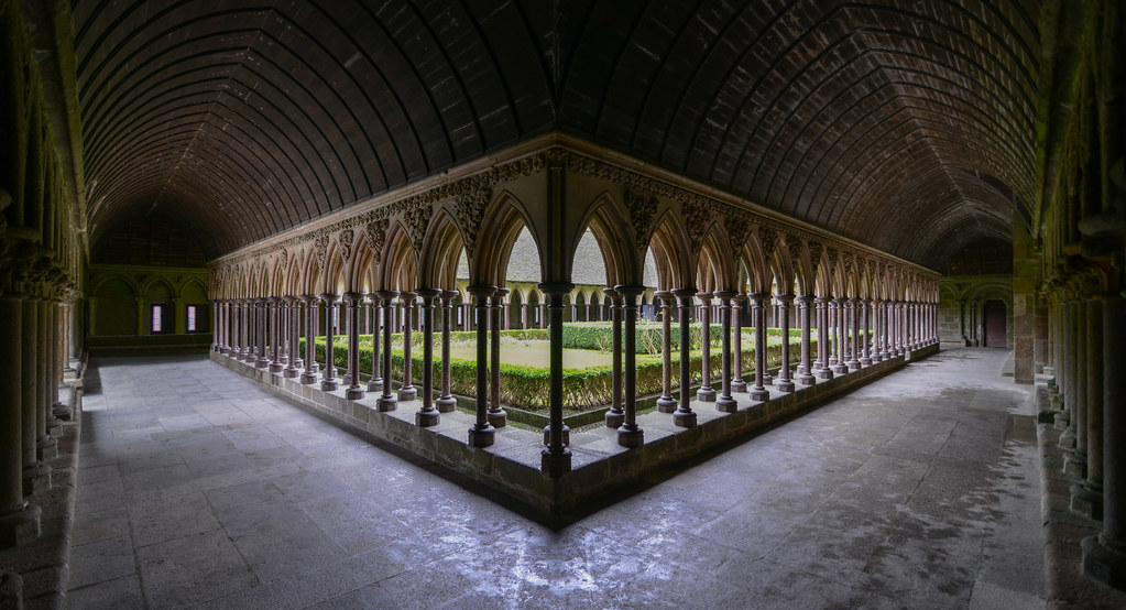 The cloister  Mont St Michel  The MontSaintMichel abbey   Flickr