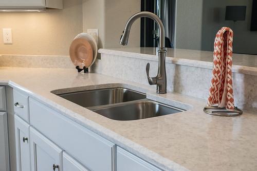Corian Quartz formerly Zodiaq Stratus White  Kitchen