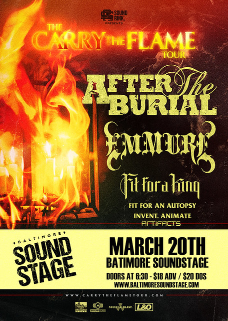After The Burial at Baltimore Soundstage