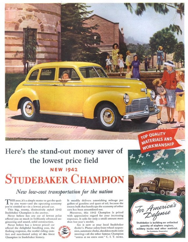 1942 Studebaker Champion - published in The Saturday Evening Post - November 1, 1941