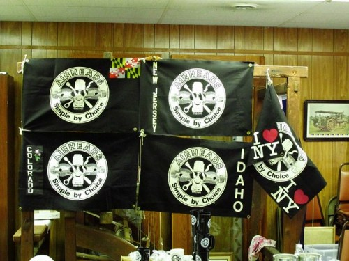 Some of the Airhead State Flags From Those in Attendance