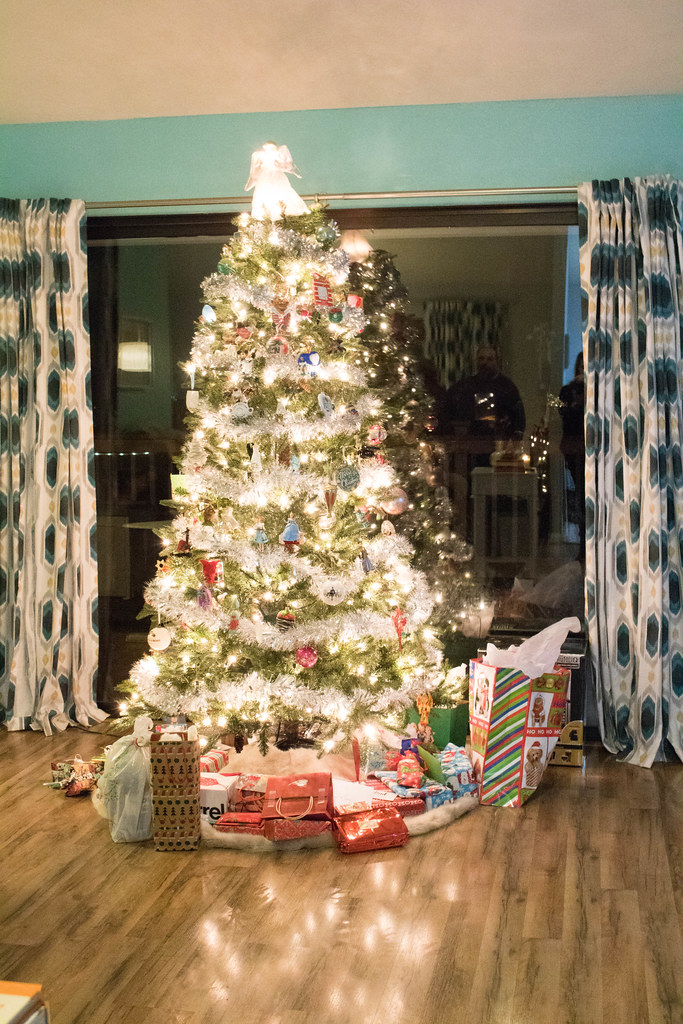 Christmas Tree with presents from Parents and Uncle Mike