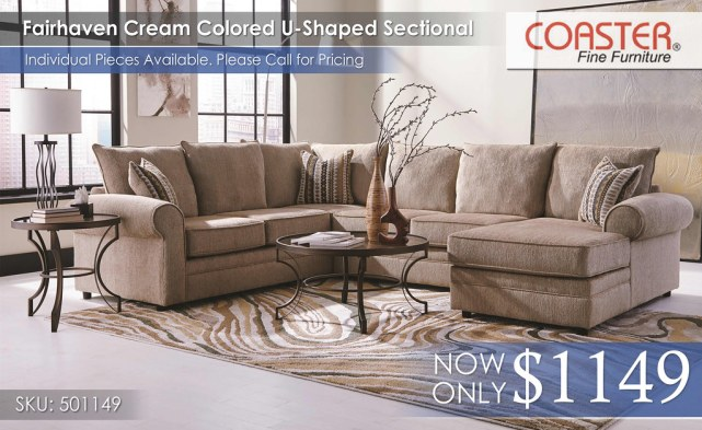 Fairhaven Coaster Sectional wChaise 501149